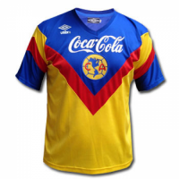 93-94 Club America Home Yellow Retro Jersey Shirt