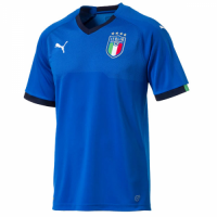 2018 Italy Home Blue Soccer Jersey Shirt