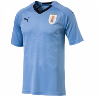 2018 World Cup Uruguay Home Soccer Jersey Shirt