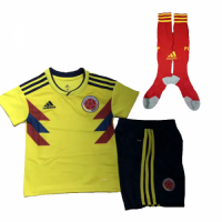 2018 Colombia Home Children's Jersey Whole Kit(Shirt+Short+Socks)