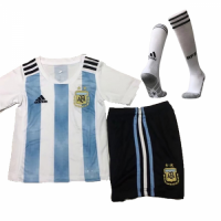 2018 Argentina Home Children's Jersey Whole Kit(Shirt+Short+Socks)