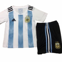 2018 Argentina Home Children's Jersey Kit(Shirt+Short)
