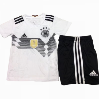 2018 Germany Confed Cup Home White Children's Jersey Kit(Shirt+Short)