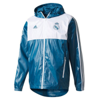 Real Madrid Blue&White Hoody Woven Windrunner