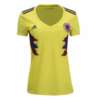 2018 World Cup Colombia Home Yellow Women's Jersey Shirt