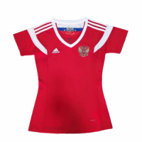 2018 World Cup Russia Home Red Women' s Jersey Shirt