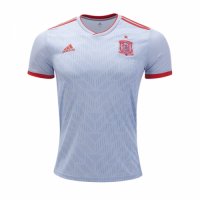 2018 World Cup Spain Away White Soccer Jersey Shirt