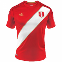 2018 World Cup Peru Away Red Soccer Jersey Shirt