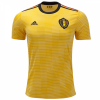 2018 World Cup Belgium Away Yellow Soccer Jersey Shirt