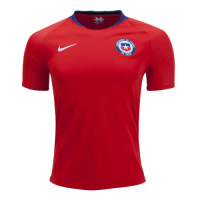 2018 Chile Home Red Soccer Jersey Shirt