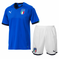 2018 Italy Home Soccer Jersey Kit(Shirt+Short)