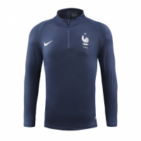 2018 World Cup France Navy Zipper Sweat Top Shirt