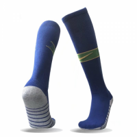 2018 World Cup Brazil Away Blue Soccer Jersey Socks