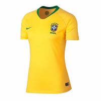 2018 World Cup Brazil Home Yellow Women's Jersey Shirt