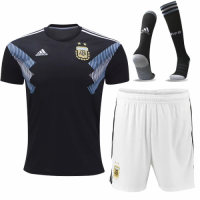 2018 Argentina Away Soccer Jersey Whole Kit(Shirt+Short+Socks)