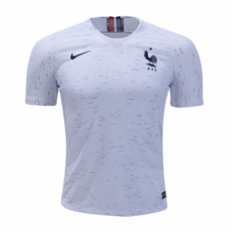 2018 World Cup France Away White Soccer Jersey Shirt(Player Version)