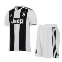 18-19 Juventus Home Soccer Jersey Kit(Shirt+Short)