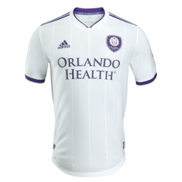 2018 Orlando City Away White Soccer Jersey Shirt(Player Version)