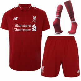 18-19 Liverpool Home Soccer Jersey Whole Kit(Shirt+Short+Socks)