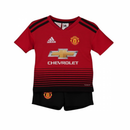 18-19 Manchester United Home Children's Jersey Kit(Shirt+Short)