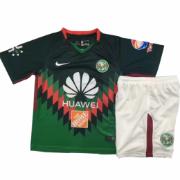 18-19 Club America Fourth Away Green Children's Jersey Kit(Shirt+Short),