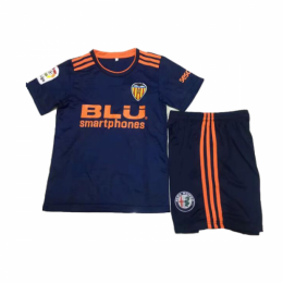 18-19 Valencia Away Navy Children's Jersey Kit(Shirt+Short),