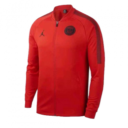 18-19 PSG JORDAN 3rd Away Red Soccer Tranining Jacket,