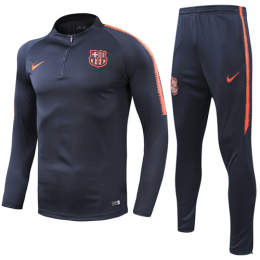 18-19 Barcelona Zipper Sweat Shirt Kit(Top+Trouser)