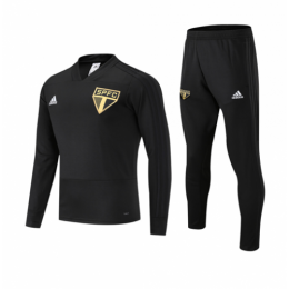 18-19 Sao Paulo Black Sweat Shirt Kit(Top+Trouser)
