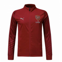 18-19 Arsenal Red High Neck Collar Training Jacket