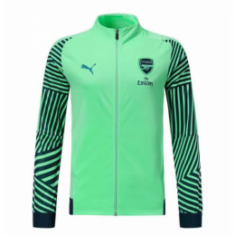 18-19 Arsenal Green High Neck Collar Training Jacket