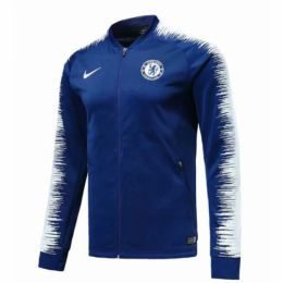 18-19 Chelsea Blue&White V-Neck Training Jacket