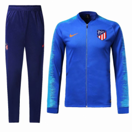 18-19 Atletico Madrid Blue Training Kit(Jacket+Trouser),