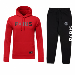 18-19 PSG JORDAN 3rd Away Red Hoody Sweat Kit(Top+Trouser)