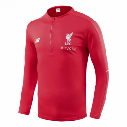 18-19 Liverpool Red Zipper Sweat Top Shirt
