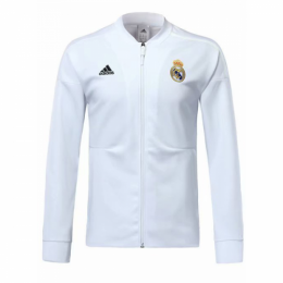 18-19 Real Madrid White Training Jacket ,