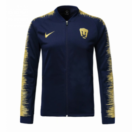 18-19 UNAM Pumas Navy&Yellow V-Neck Training Jacket