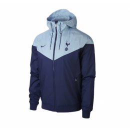 18-19 Tottenham Hotspur Blue&Gray Hoody Jacket