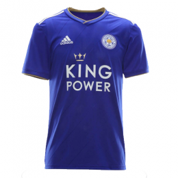 18-19 Leicester City Home Blue Soccer Jersey Shirt