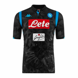 18-19 Napoli Away Black Soccer Jersey Shirt