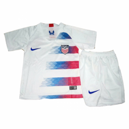 2018 USA Home White Children's Jersey Kit(Shirt+Short),