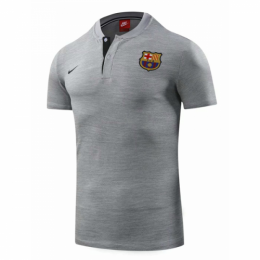18-19 Barcelona Grand Slam Polo Shirt-Gray