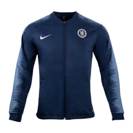 18-19 Chelsea Navy&Gray V-Neck Training Jacket