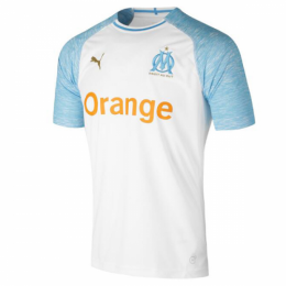 18-19 Marseilles Home White Jersey Shirt