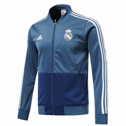 18-19 Real Madrid Blue V-Neck Training Jacket,