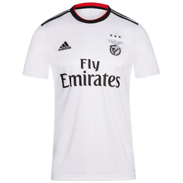 18-19 Benfica Away White Soccer Jersey Shirt