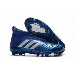 AD Predator 18+ without latchet FG boots-Blue,Adidas Soccer boot,Soccer Cleat,Soccer Shoes,Soccer Shoe,Soccer Boots,Shoe,Shoes