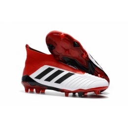 AD Predator 18+ without latchet FG boots-Red&White,Adidas Soccer boot,Soccer Cleat,Soccer Shoes,Soccer Shoe,Soccer Boots,Shoe,Shoes