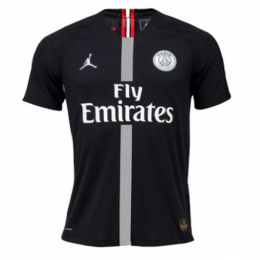 18-19 PSG JORDAN 3rd Away Black Soccer Jersey Shirt(Player Version)
