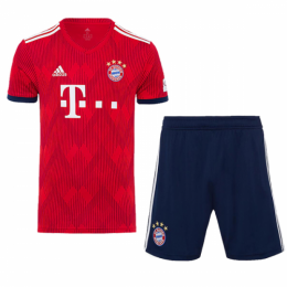 18-19 Bayern Munich Home Soccer Jersey Kit(Shirt+Short),